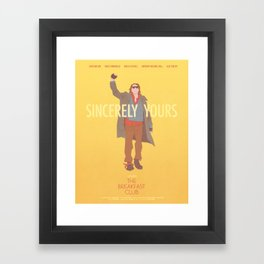 Sincerely Yours (The Breakfast Club) Framed Art Print