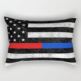 Fire Police Flag Rectangular Pillow