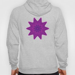 Violet abstract star Hoody