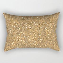Gold Glitter Rectangular Pillow