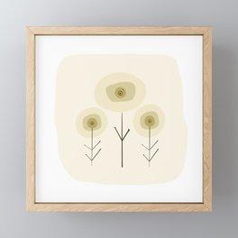 Flower Trio Yellow - Earthen Series Framed Mini Art Print