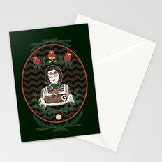 Yule Log Lady Stationery Cards