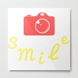 Smile   Sonríe Metal Print
