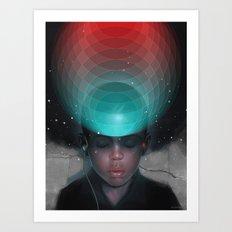 VR Kid Art Print