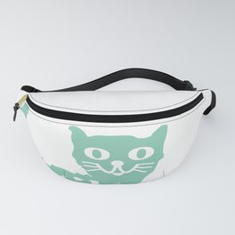 Mint cat drawing, cat drawing Fanny Pack