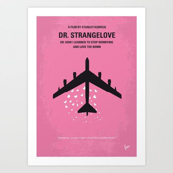 No025 My Dr Strangelove minimal movie poster Art Print