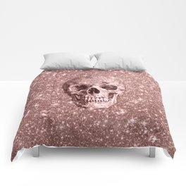 Modern sparkling Skull B Comforters