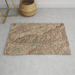 Vintage Great Smoky Mountains National Park Map (1963) Rug
