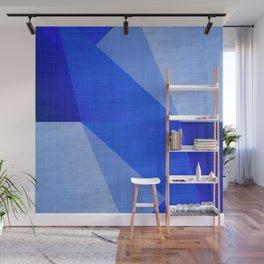 Lapis Lazuli Shapes - Cobalt Blue Abstract Wall Mural
