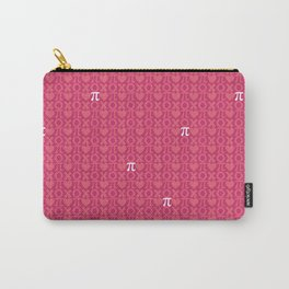 Hugs, Kisses, Love, and Pi - Pink  Carry-All Pouch