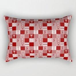 Jungle Friends Shades of Burgundy Cheater Quilt Rectangular Pillow