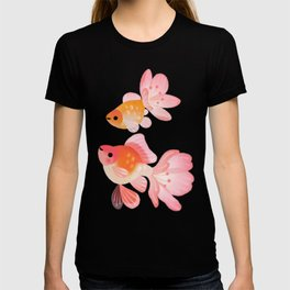 Cherry blossom goldfish T-shirt