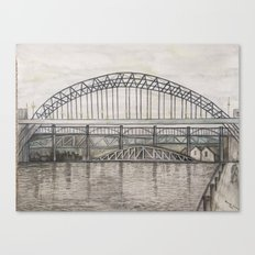 Newcastle Bridges Canvas Print