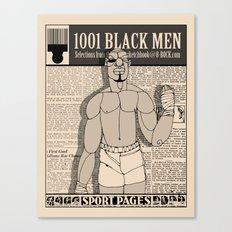 1001 Black Men: The Sport Pages Canvas Print