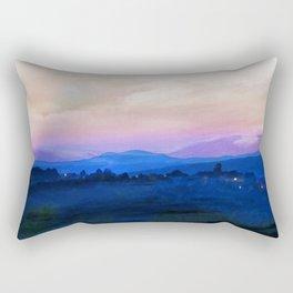 Umbrian Landscape Rectangular Pillow