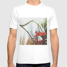 in winter Mens Fitted Tee White MEDIUM