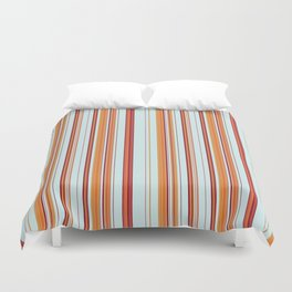 Combined Stripe Pattern - Clear Sailing Colorway Duvet Cover