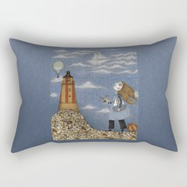Ship in the Sky Rectangular Pillow
