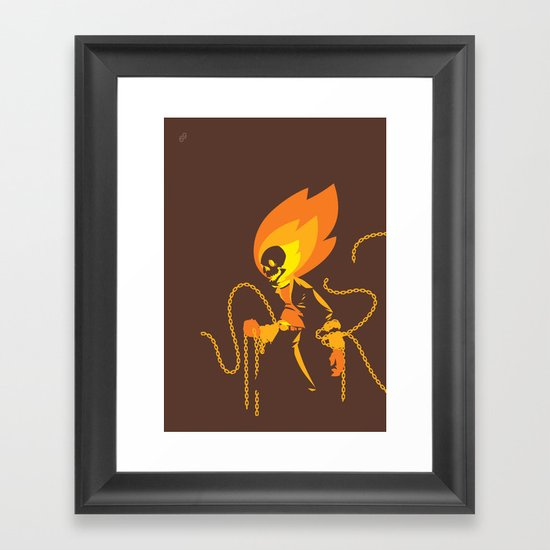 The Ghost Who Rides Framed Art Print