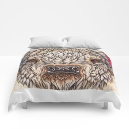 White Buffalo Calf Comforters