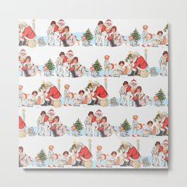 SANTA CLAUS gives presents to children Metal Print