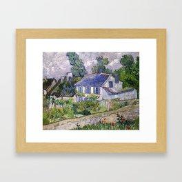 Vincent Van Gogh Houses At Auvers Framed Art Print