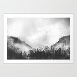 Moody clouds 4 Art Print