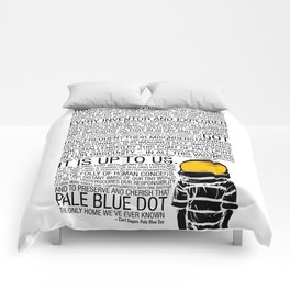 Pale Blue Dot: Carl Sagan Comforters