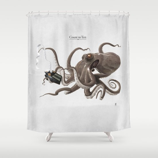 Count to Ten Shower Curtain