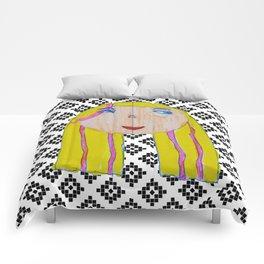 Blonde Girl Comforters