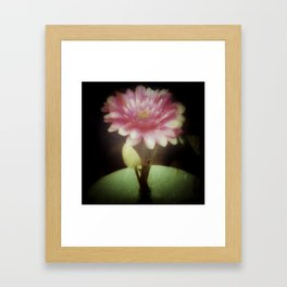 Vintage Dreamy Flower Framed Art Print