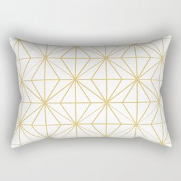 Geometric Golden Pattern Rectangular Pillow