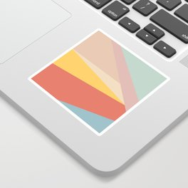 Retro Abstract Geometric Sticker