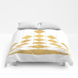 CHECKERBOARD ABSTRACT PYRAMID sacred geometry Comforters