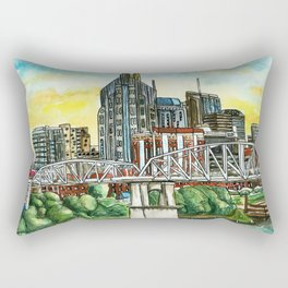 Nashville Skyline Rectangular Pillow