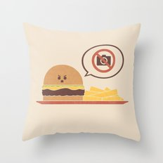 No Photography Allowed Throw Pillow