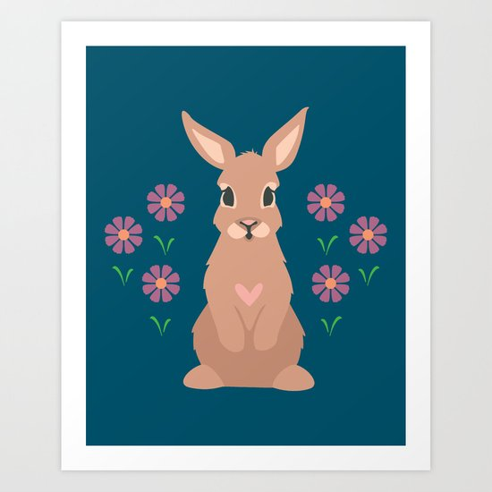 Spring Rabbit Art Print