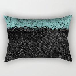 Topography Aqua Rectangular Pillow