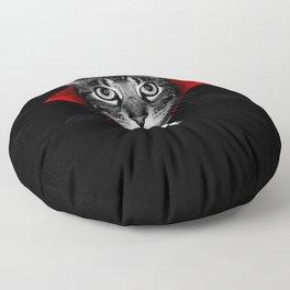 Vampire cat Floor Pillow