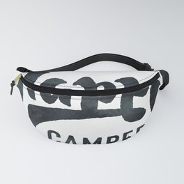 HAPPY CAMPER Black and White Retro Fanny Pack