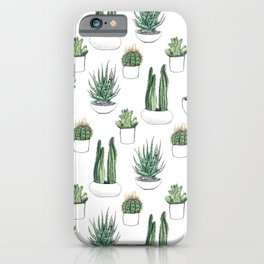 watercolour cacti and succulent iPhone Case