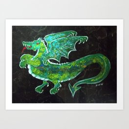 """Dastardly Dragon"" Art Print"