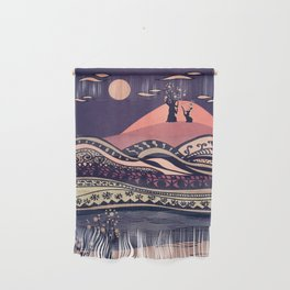 Psychedelic mountains (colour option) Wall Hanging