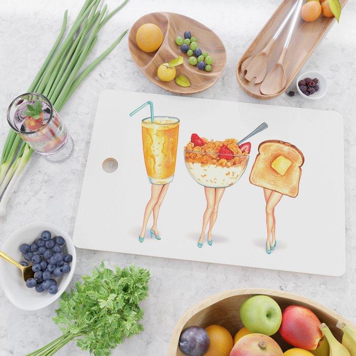 Breakfast Pin-Ups Cutting Board
