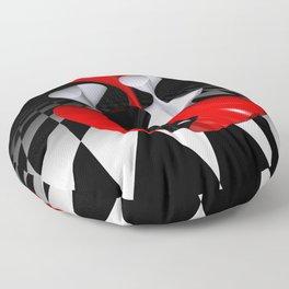 polynomails on harlekin - patterned plane Floor Pillow