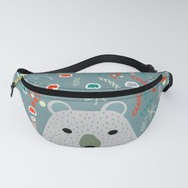 Winter pattern with baby bear Fanny Pack