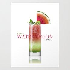 Kiwi and Watermelon crush Art Print
