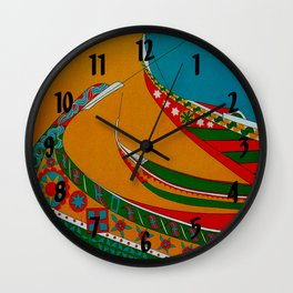 Portuguese Fishing Boats - Vintage Travel Wall Clock