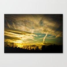 Sundown Sky Planes  Canvas Print