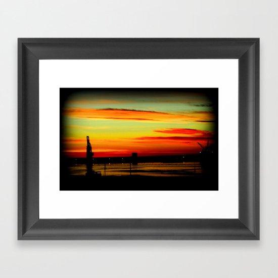 Morning Lights Framed Art Print
